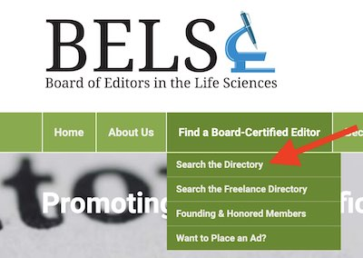 Verify if an academic editor claims they're ELS or BELS-certified