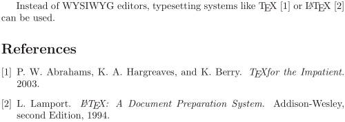 LaTeX gives clean, auto-updating bibliographies